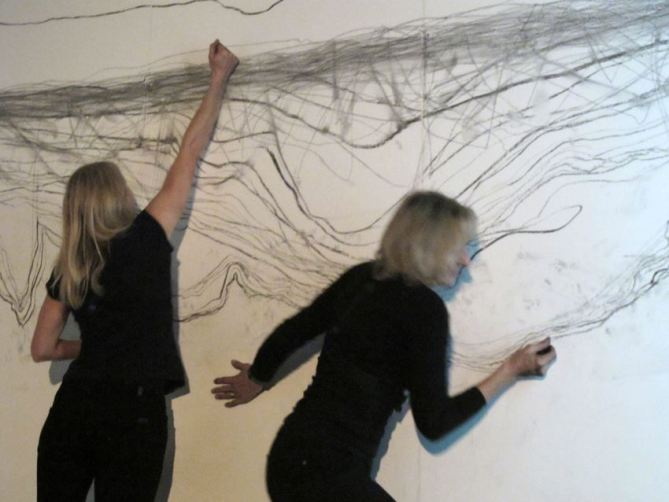 Draw to Perform_Jane Grisewood & Carali McCall_photo by Ram Samocha